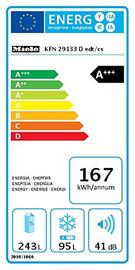 Miele KFN 29133 D EDT/CS Frigo congelatore da libero posizionamento Acciaio Inox Anti Impronte
