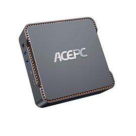 Mini PC,6GB RAM + 120GB ROM,Intel Celeron J4125,Supporto 2.5'' SATA SSD/HDD, Windows 10 Pro(64-bit),Dual WiFi 2.4/5G,Bluetooth 4.2,4K HD,2 HDMI+1 VGA Porta,AK3 Mini Computer Desktop