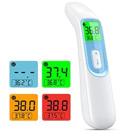 IDOIT Termometro Professionale per febbre 4 in 1 Termometro digitale infrarossi Commutazione automatico tra Termometro frontale auricolare memorizza 40 letture per Adulti, Neonati, Bambini