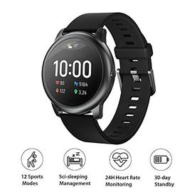 HAYLOU LS05 Global Version Smartwatch Solar 12 modalità Sport Controllo della Musica Braccialetto Sportivo Monitoraggio della Frequenza Cardiaca 24 Ore su Braccialetto Fitness Quotidiano Impermeabile