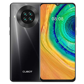 CUBOT NOTE 20 Smartphone Android 10 Quad Fotocamera 6.5 Waterdrop Pollici 64GB ROM 4200mAh Face ID dual SIM NFC 4G Cellulare Nero