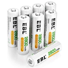 EBL AA Batterie Ricaricabili con 1200 cicli, Pile Ricaricabili da 2800mAh Ni-MH con Comodo Astuccio, Confezione da 8 pezzi