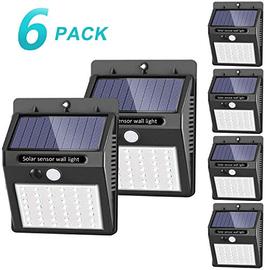 luce solare led esterno, SEZAC [42 LED / 3 modalità] luce solare esterno a LED Lampade solari impermeabili senza fili Luce sensore di movimento (confezione da 6)