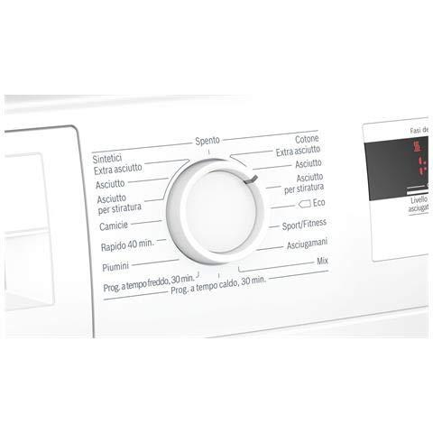 Bosch Elettrodomestici WTH83008II Serie 8 Asciugatrice Pompa calore 8 Kg Classe Condensazione Bosch 4242005183371 Bianca WTH83008II