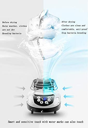 DRYER ZLMI Essiccatore Sterilizzazione Pieghevole Tre Strati Telecomando Astuto Casa Intelligente Tocco Portante 15Kg Blue DRYER ZLMI 8781041742655 Blue