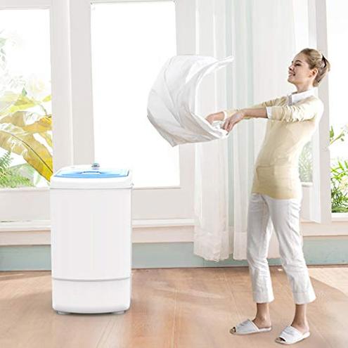 Asciugatrici Semiautomatico Canna Singola 8 kg capacit Ideale Case Dormitori Appartamenti Funzionamento Solo Pulsante Asciugatrici 6189219852397 Blue