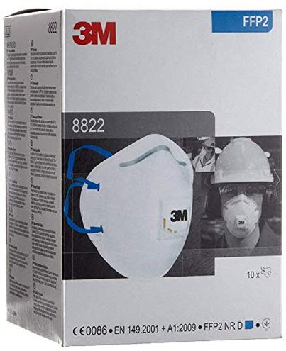 10 Mascherine 3M - Respiratori professionali altissima qualita' filtro FFP2 NR rinforzate 8822 3M 4046719303137 GT500075202 Bricolage