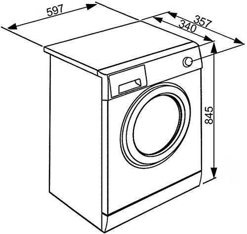 Smeg LBW410CIT Libera installazione Carica frontale 4kg 1000Giri min Bianco lavatrice Smeg 8017709212674 LBW410CIT