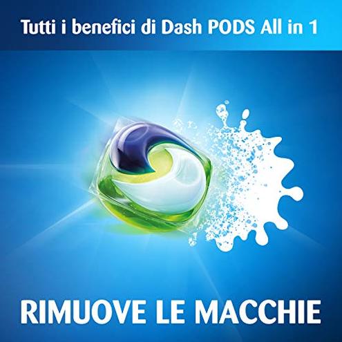 Dash Allin1 Pods 3in1 Detersivo Lavatrice Capsule Orchidea Bianca Maxi Formato 3 39 Pezzi 117 Lavaggi Dash 8001090739032 8001090739032 Salute bellezza