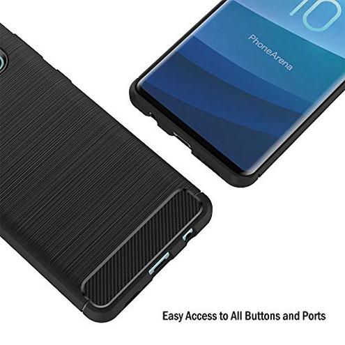 AICEK Cover Compatible Samsung Galaxy S10 Nero Custodia Samsung S10 Silicone Molle Black Cover Galaxy S10 Soft TPU Case AICEK 191896010331 Nero SMS10BDCFTPUCC CE