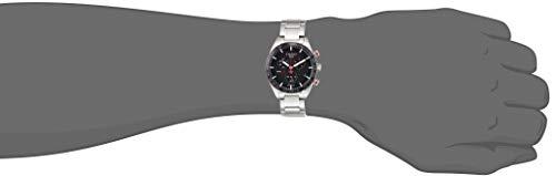 Tissot PRS 516 Quartz Chronograph orologio uomo quadrante cote de Geneve nero cassa bracciale acciaio Tissot 7611608282663 Argento T1004171105101
