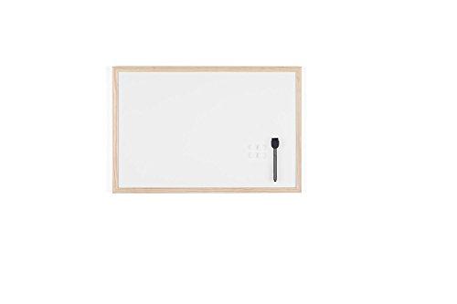 Bi-Office Lavagna Bianca Budget Cornice Legno Superficie Speciale Cancellabile Secco 600 400 mm Bi-Office 5603750530107 Bianco MM03001010