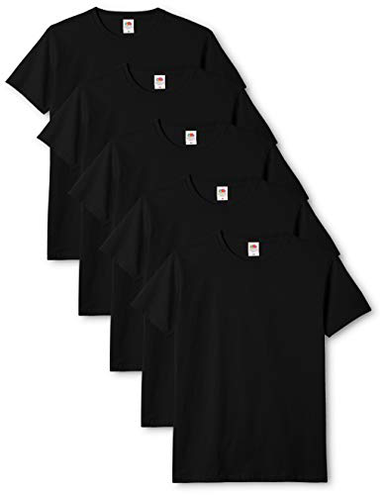 Fruit of the Loom Original T-Shirt Uomo Nero Black 36 X-Large Pacco 5 Fruit of the Loom 5056112421924 Nero 61-082-0 Abbigliamento