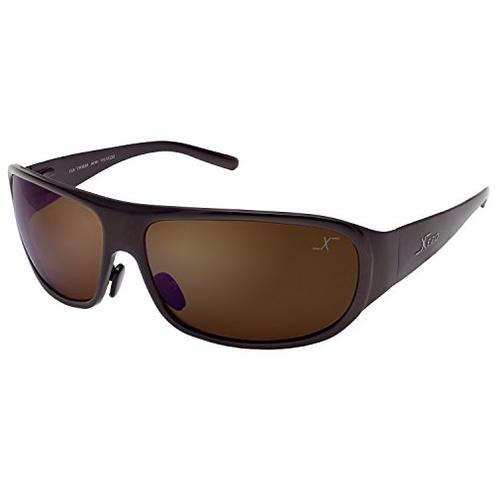 Xezo UV 400 Base Curve 8 occhiali sole polarizzati titanio massiccio lente marrone finitura color caff metallizzata 1 7 oz Xezo 0856469005557 Caff Semi-lucido Metallizzato Incognito 1400