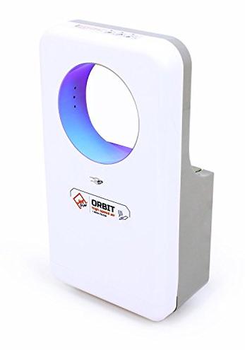 Jet Dryer asciugamani elettrico Orbit Asciugamani veloce potente realizzato mano sistema antigoccia colore bianco Jet Dryer bianco