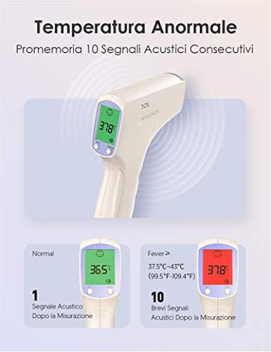 HYLOGY Termometro Termometro Digitale Bambino Febbre Funzione Memoria Termometro Infrarossi Corpo Superficie Termometro Ambientale Neonati Bambini Adult HYLOGY