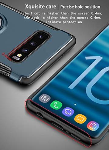 Custodia Samsung Galaxy S10Ring Shell Anello Girevole 360 Protezione cavalletto Montare Il Supporto Magnetico Cover Samsung Galaxy S10 Nero COVO 6971061492254 Nero Samsung Galaxy S10 CE