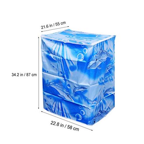 VOSAREA Coprilavatrice Verticale Impermeabile Cerniera Anti-Spruzzi Anti Sunlight 55 58 87 cm Onda VOSAREA 0746551467144 Come Mostrato