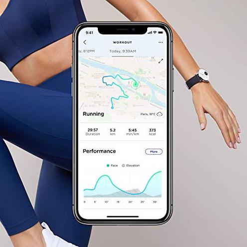 Withings Steel HR Smartwatch Ibrido Orologio sportivo misurazione frequenza cardiaca dell'attivit sonno notifiche Withings 3700546702549 Bianco - 36mm HWA03-36white-All-Inter