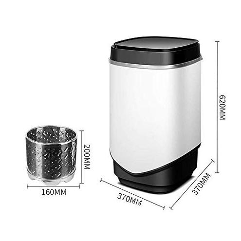 HEMFV Lavasciuga Mini Single-Cilindro Lavatrice Portatile Color Black HEMFV 6911342828006 Black