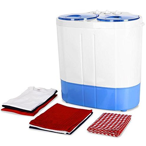 oneConcept DB003 - lavatrice mini-lavatrice campeggiatori single studenti capacit lavaggio 2 kg potenza 250 watt capacit spin 120 2 programmi bianco-azzurro oneConcept 4260489822890 Db003 Cucina