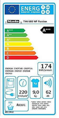 Miele TWV680 WP Passion Asciugatrice Libera Installazione -10 Pompa Calore Carico Frontale 9 kg Bianco Miele 4002516059592 Bianco 12WV6802