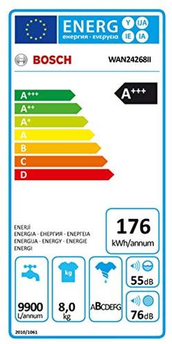 Bosch Elettrodomestici Lavatrice Standard WAN24268II 8 Kg Classe Centrifuga 1200 giri Bosch 4242005184699 Bianca WAN24268II CE