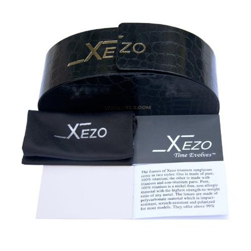 Xezo - Occhiali sole uomo titanio Incognito 1400 48 2 Xezo 0856469005557 Caff Semi-lucido Metallizzato Incognito 1400