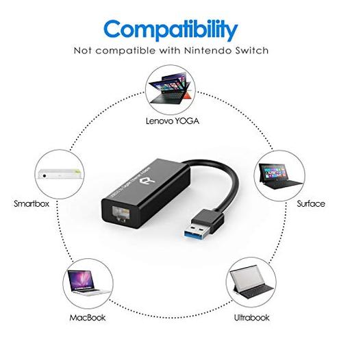 Rankie Adattatore USB Rete Alta velocit Convertitore Rete Gigabit Ethernet USB 3 0 RJ45 10 100 1000Mbps Nero Rankie 0810298029122 Nero R-1161-ADAPTER-USB3 0-RJ45-BK CE