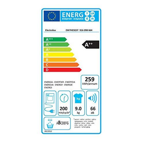 Electrolux EW7HE92ST - Asciugatrice 9 Kg Libera Installazione Classe Pompa calore Funzione Vapore AB Electrolux 7332543699421 13326068