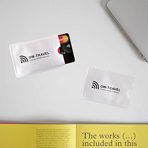 Custodie Blocco RFID - ANTI FRODE - Protezione Carte Credito Debito Identit Portafogli Passaporto - Isolamento Chip Contactless RFID Radio NFC Protectores Tarjeta 5 OW-Travel 1 Custodie Blocco Protettive 5 Bagaglio