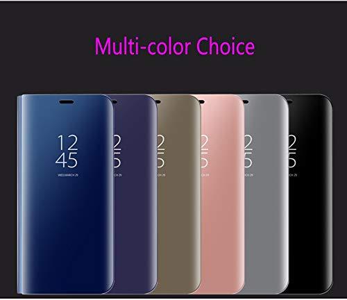 Custodia Samsung Galaxy S10 5G Custodia Specchio Funzione Staffa Protezione Schermo Intero Flip Custodia Cover for Samsung Galaxy S10 5G-Blu BELLA BEAR 6920181965322 Blu Samsung Galaxy S10 5G