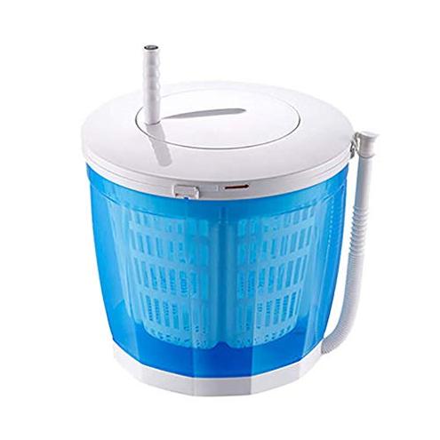 Lavatrice manovella portatile Asciugabiancheria manuale non elettrica manuale Lavasciuga Lavatrice banco campeggio Appartamenti dormitorio uso domestico 3 Kg 6 6 libbre Blu Grigio LXDDP 6215632142682 Blue