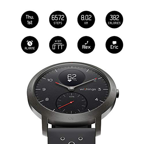Withings Steel HR Smartwatch Ibrido Multi-Sport Unisex Adulto Nero 40 mm Withings 3700546704475 Nero 3700546704475 Sport