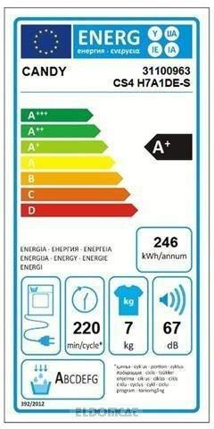 CANDY Asciugatrice CSO4H7A1DE-S 7 Kg Classe Condensazione Pompa Calore Candy 8016361991590 13898448