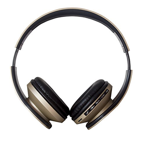 Auricolare Wireless Cuffie Bluetooth 4 2 Cuffie Pieghevole JIUHUFH Microfono incorporato Lettore MP3 Radio FM Auricolari comodi Supporta modalit chiamata mani libere PC Cellulare-Oro JIUHUFH 0602860883986 Oro