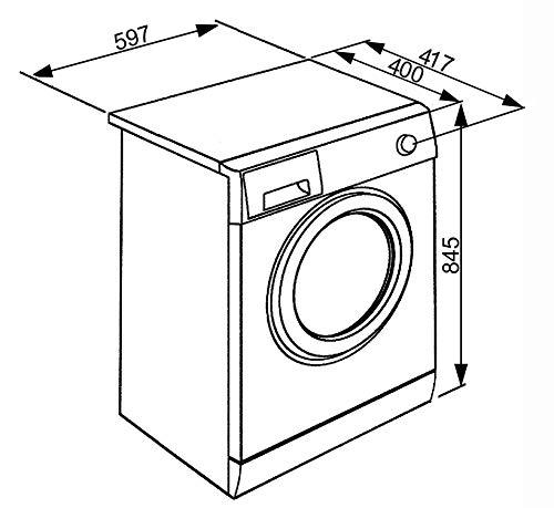 SMEG Lavatrice Slim LBW610CIT3 6 Kg Classe Centrifuga 1000 giri Smeg 8017709283360
