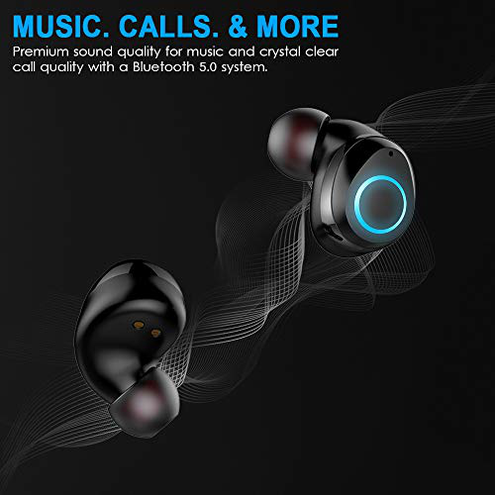 Cuffie Bluetooth 5 0 Senza Fili 30H Playtime 3D Stereo HD TWS Ear-In Auricolari Bluetooth IP7 Impermeabile Cuffie Wireless Display Digitale LED Mic-Incorporato choosice 0779207370338 New-Model I07