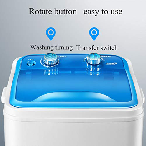 Washing Machine Piccola Compatta Lavatrice - Grande capacit Single-Barrel Semiautomatico Disinfezione Eluizione Mini Integrato Lavatrice Blu Nero Washing Machine 6199330484605 Black Cucina