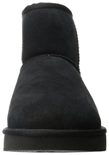 UGG Classic Mini II Stivali Classici Donna Pelle UGG 0190108084320 Nero 1016222 Scarpe