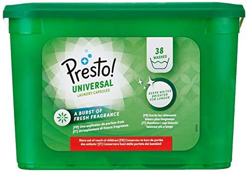 Marchio Amazon - Presto Detersivo universale capsule 152 lavaggi 4 confezioni 38 lavaggi Presto 5400606002524 Salute bellezza