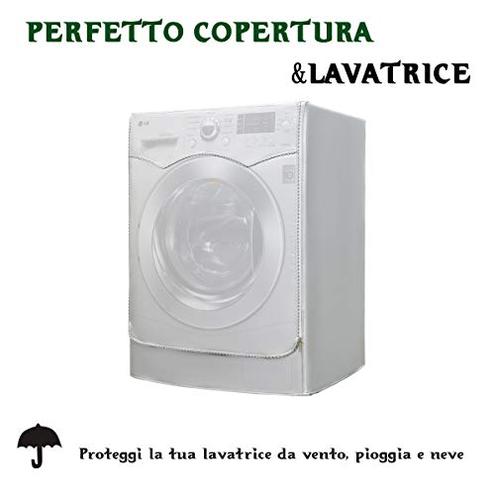Coperchio lavatrice Coperchio protettivo impermeabile asciugatrice lavatrice caricamento frontale Antipolvere prova polvere 60 60 86 cm Felpato all'interno AKEfit 8672612088800 Silver Casa