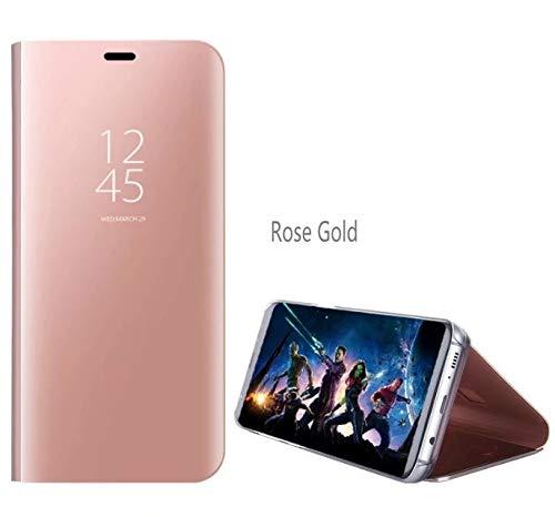 Custodia Samsung Galaxy S10 Plus-con supporto funzione specchio flip cover design fashion protezione schermo intero-Oro Rosa BELLA BEAR 6920181861570 Oro rosa