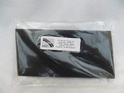 Bauknecht Whirlpool Whirlpool originale schiuma filtro originale HX scambiatore calore essiccatore 48101035454757 Bauknecht Whirlpool 0769471202923