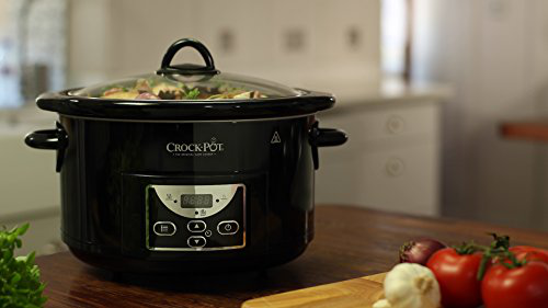 Crock-Pot Slow Cooker Pentola Cottura Lenta Capienza 4 7 Litri Adatta fino 6 Persone 230 Digitale Programmabile Nero Crock-Pot 0798256078590 Nero SCCPRC507B-060 Cucina
