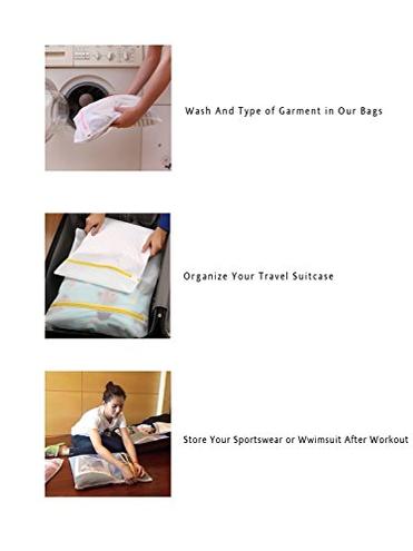 Eono by Amazon - Sacchi Biancheria Sacchetti Rete Lavaggio Lavatrice Borse Bucato Laundry Bag Wash Bag Camicetta Maglieria Scarpe Reggiseno Intima Vestiti Bambini 5 Set Eono 0763769290388 Bene Rete 5 Pezzi 1xl 2l 2m Mesh Laundry Bags