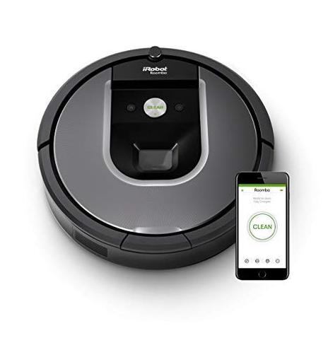 iRobot Roomba 960 Robot Aspirapolvere Sistema Pulizia Dirt Detect Spazzole Tangle-Free Pavimenti Tappeti Ottimo Peli Animali Wi-Fi 70 dB autonomia 75 min Argento iRobot 5060359283917 Grigio Roomba 960 Cucina