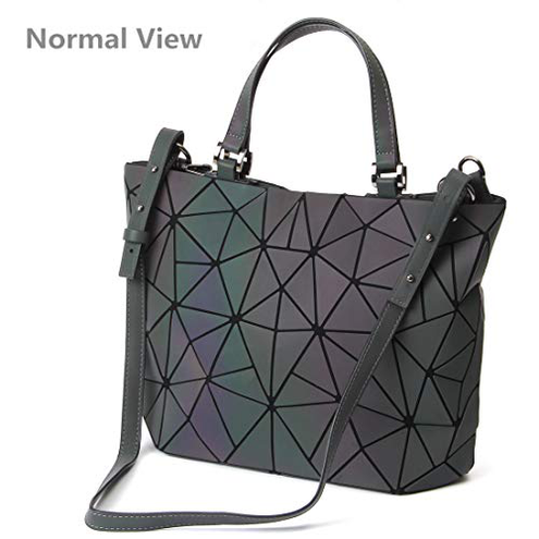 HOT ONE Colour Cambia Borse borsette luminose geometriche Borsa olografica Borsa riflettente Borsa Moda 5 Luminoso Medio HOT ONE 0710373099388 5 Luminoso Medio 10467567