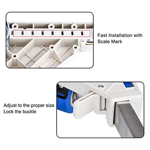 Base lavatrice Dewel base regolabile 45 cm-69 cm 4 ruote piroettanti 4 piedi gomma supporto lavatrice asciugatrice frigorifero Dewel 0765756156318 principali elettrodomestici