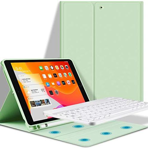 GOOJODOQ Custodia Tastiera iPad 10 2 Custodia Tastiera iPad 10 2 2019 7th Generazione Magnetica Cover Tastiera Bluetooth Staccabile GOOJODOQ 0704768842130 verde-10 2 GOOJODOQA5618keyboard case-3